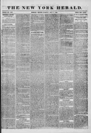 THE NEW YORK HERALD. WHOLE NO. 7252. MORNING EDITION-TUESDAY, JULY 8, 1856. PRICE TWO CENTS. BB. U Nltf UP AIi 2LFFAXX.S....