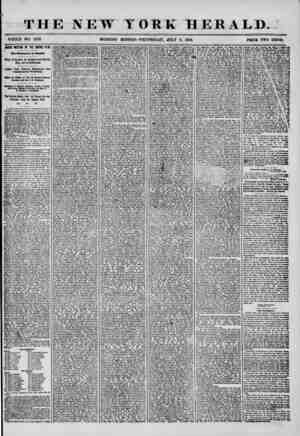 THE NEW YORK HERALD. WHOLE NO. 7253 MORNING EDITION-WEDNESDAT, JULY 9, 1856. FRIGE TWO CENTS. MASS MEETING OF THE EMPIRE...