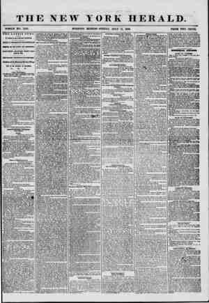THE NEW YORK HERALD. WHOLE NO. 7255. MOKNING EDITION-FRIDAY, JULY 11, 1856. PRIOB TWO CENTS. THE LATEST NEWS. CY MAGNETIC AND