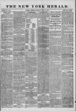 THE NEW YORK HERALD. - ^ - - _ - - - - WHOLE NO. 7256 MORNING EDITION? SATURDAY, JULY 12, 1856. PRICE TWO CENTS. MUNICIPAL