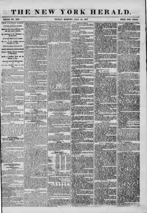 THE NEW YORK HERALD. WHOLE NO. 7257. SUNDAY MORNING, JULY 13, .1356. PRICE TWO CENTS. the latest news. BY MAGNETIC AND...