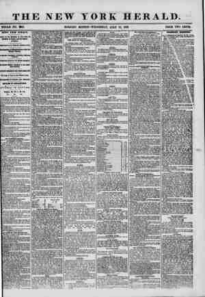 THE NEW YORK HERALD. WHOLE NO. ?60. MORNING EDITION? WEDNESDAY, JULY 16, 1856. PRICE TWO CENTS. NEWS FBOM EUROPE. ? irival of
