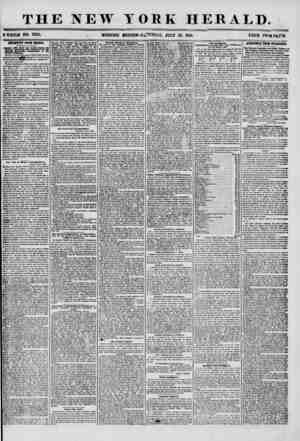 THE NEW ? WHOLE NO. 7263. _ MORNING YORK HERALD. EDITION? S a JURDAT, JULY 19, 1856. PRICE TWOI GfcJTTS. IMPORTANT FROM...