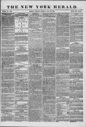 THE NEW YORK HERALD. WHOLE NO. 7266. MORNING EDITION ?TUESDAY, JULY 22, 1856. PRICE TWO CENTS. ADVERTISEMENTS RENEWED EVERY