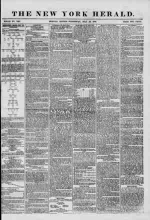 THE NEW YORK HERALD. WHOLE NO. 7267. MORNING EDITION-WEDNESDAY, JULY 23, 1856. PRICE TWO CENTS. UJTERTISEMENTS RENEWED EVERY
