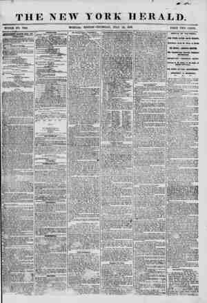 """THE NEW WnOLE NO. 7268. MORNING"""" , ? ?? ? _ ... ? YORK HERALD. EDITION? Til URSDAY^JULY 24, 1856. APTERTLSEMT8 RENEWED EfERV"""