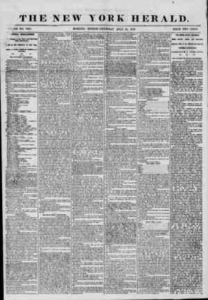 THE NEW JLE NO. 7275. MORNING YORK HERALD. EDITION?1 THURSDAY JULY 31, 1856. PRICE TWO CENTS. LITICAL INTELLIGENCE. dedings