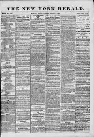 THE NEW YORK HERALD. _ # . . WHOLE NO. 7280. MORNING EDITION-TUESDAY, AUGUST 5, 1856. PRICE TWO CENTS.' ADVERTISEMENTS...