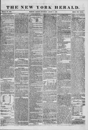 THE NEW YORK HERALD. ? WHOLE NO. 7282. MORNING EDITION-THURSDAY, AUGUST 7, 1856. PRICE TWO CENT'S. HEALTH OF THE CITY....