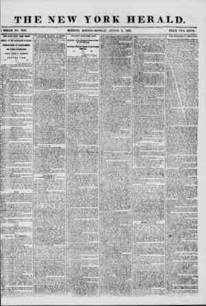 """THE NEW : WHOLE NO. 7286. MORNING YORK HERALD. EDITION? MONDAY, AUGUST XI, 1856. """" TWO CENTS. FOUR DAYS LATER FROM EUROPE,"""