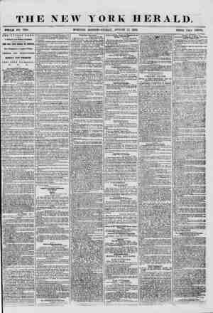 THE NEW YORK HERALD. WHOLE NO. 7290. MORNING EDITION- FRIDAY, AUGUST 15, 1856. rHE LATEST NEWS. BY MAGNETIC AND PRINTING...