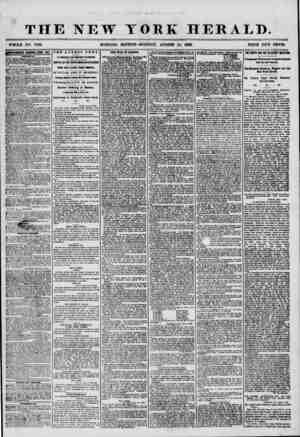 THE NEW YORK HERALD. WHOLE NO. 7300. MORNING EDITION-MONDAY, AUGUST 25, 1856 PRICE TWO CENTS. umim EEK8WBB ETEKY PIT. p. Til
