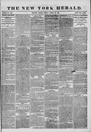 THE NEW YORK HERALD. WHOLE NO. 7304. MORNING EDITION? FRIDAY, AUGUST 29, 18*56. PRICE TWO CENTS. IMPORTANT FROM ENGLAND. The