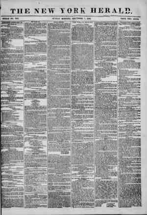 THE NEW YORK HERALD WHOLE NO. 7313. SUNDAY MORNING, SEP'i^MBER 7, 1856. PRICE TWO CENTS. ADVERTISEMENTS RENEWED EVERY DAY.