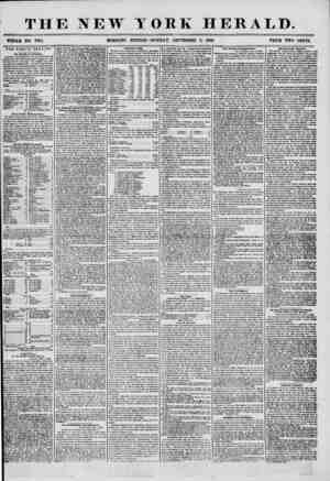 THE NEW YORK HERALD. WHOLE NO. 7314. MORNING EDITION? MONDA Y, SEPTEMBER 8, 1856. PRICE TWO CENTS. THE PUBLIC HEALTH. The...