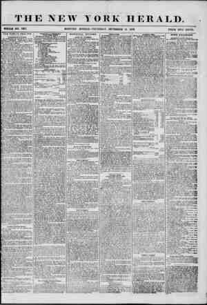 THE NEW Y WHOLE NO. 7317. ORE HERALD. THURSDAY SIPTKMBER 11. 1856. PRICE TWO CENTS. THE PUBLIC HEALTH. Commissioner* of...