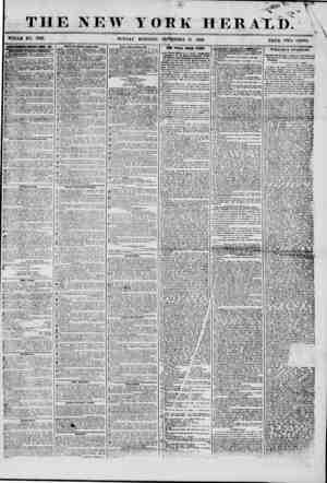 THE NEW YORK WHOLE NO. 7327. SUNDA Y MORNING. SEPTEMBER 21 HER \ V| \ 1856 PRICE TWO CENTS. umfiwmrri imim ebi? bat. WWATOWg