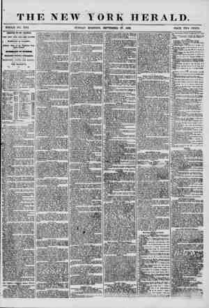 """THE NEW YORK ?? ? WHOLE NO. 7334 SUNDAY"""" MORNING, SEPTEMBER 27. HERALD. 1856. PRICE TWO CENTS. ARRIVAL OF TH 5 ILLINOIS. tWO"""