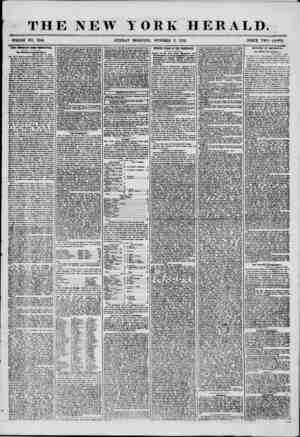 THE NEW YORK HERALD. 1 WHOLE NO. 7341. SUNDAY MORNING, OCTOBER 5, 1856. PRICE TWO CENTS. VERY DirMTMT IBM PBHVBTLT4HU. Our