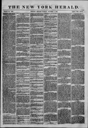 THE NEW ' WHOLE NO. 7343. MORNING YORK HERALD. EDITION'? TUESDAY, OCTOBER 7, 1856. PRICE TWO CENTS. ADVERTISEMENTS EENEWE1)