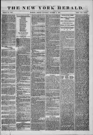 THE NEW YORK HERALD. WHOLE NO. 7347. MORNING EDITION-SATURDAY, OCTOBER 11, 1856. PRICE TWO CENTS. ADVERTISEMENTS RENEWED...