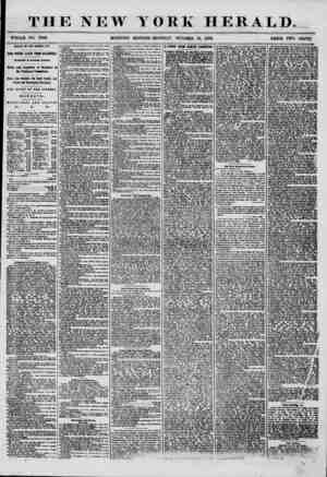 THE NEW YORK WHOLE NO. 7349. MORNING EDITION-MONDAY, OCTOBER HERALD. , 1856. PRICE TWO CENTS. ARRIVAL OF TIIE GEORGE LAW. TWO