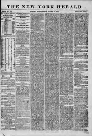 """THE NEW YORK HERALD. ?? ?"""" ~~~~ ' ? ? - r~T , ? WHOLE NO. T353. MORNING EDITION?FRIDAY, OCTOBER 17, 1856. ~ PRICE TWO CENTS."""