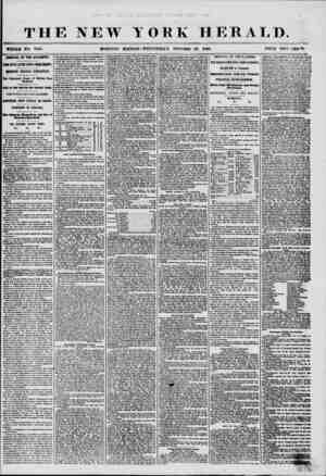 THE NEW YORK HERALD. WHOLE NO. 7365. MORNING EDITION?WEDNESDAY. OCTOBER 2V. 185* ARRIVAL OF THE ATLANTIC. JOUR DAYS LATER...