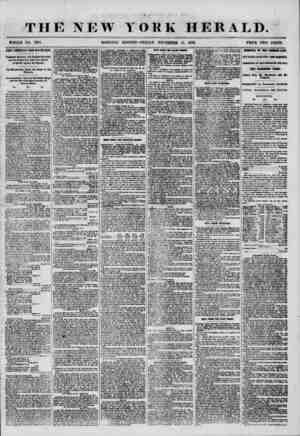 4 ? THE NEW YORK HERALD. ' C * % * 1 . *4 ' ' WHOLE NO. 7381 MORNING EDITION-FRIDAY, NOVEMBER 14, 1856. PRICE TWO CENTS....