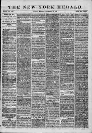 THE NEW TORE HERALD. WHOLE NO. 7390 SUNDAY MORNING, NOVEMBER 23, 1856. * PRICE TWO CENTS. INTERESTING FROM EUROPE. Dnr...