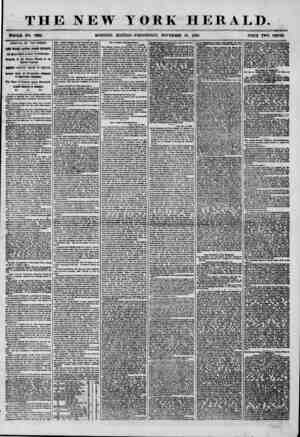THE NEW YORK HERALD. WHOLE NO. 7393. MORNING EDITION-WEDNESDAY, NOVEMBER 26, 1856. PRICE TWO CENTS. ARRIVAL OF THE PERSIA.