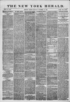 """THE NEW .< flOLjP NO. 739G MORNING YORK HERALD. ' '? ? 1 ' """"* ? - ? ' 1 EDITION?SATTlt'JAY, NOVEMBER 29, 1856. PiUCB TWO..."""