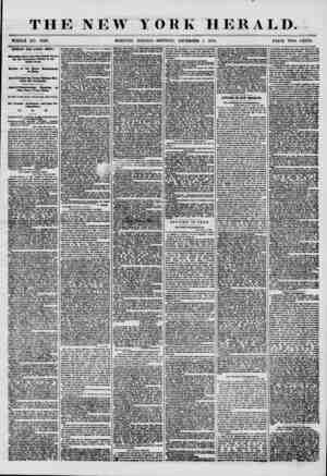 T HE NEW YORK HERALD. WHOLE NO. 7398. MORNING EDITION-MONDAY, DECEMBER 1, 1856. PRICE TWO CENTS. IMPORTANT FROM CENTRAL...