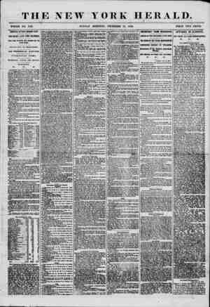 THE NEW YORK HERALD. WHOLE NO. 7411. SUNDAY MORNING, DECEMBER 14, 1856. PRICE TWO CENTS. ARRIVAL OF THE GEORGE LAW. TWO WEEKS