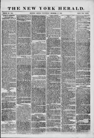 THE NEW YORK HERALD. WHOLE NO. 7414. MORNING EDITION-WEDNESDAY, DECEMBER 17, 1856. PRICE TWO CENTS. AFFAIRS IN WASHINGTON.