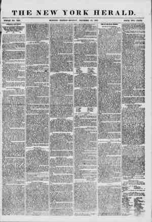 THE NEW YORK HERALD. WHOLE NO. 7419. MORNING EDITION-MONDAY, DECEMBER 22, 1856. PRICE TWO CENTS. IflTEEESTUCi FEOH H?XI?0.