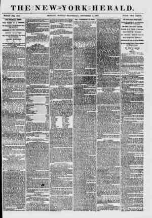 """T H E i"""" N E ~W> Y ORE-HERALD. WHOLE NQ>, 7671. MORNING EDITION?WEDNESDAY, SEPTEMBER 2, 1857. PRICE TWO CENTS. THE FINANCIAL"""