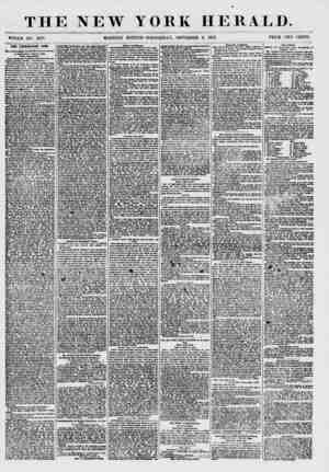 THE NEW YORK HERALD. WHOLE NO. 7678. MORNING EDITION-WEDNESDAY, SEPTEMBER 9, 1857. PRICE TWO CENTS. TBS CUNNINGHAM CASS. MMII