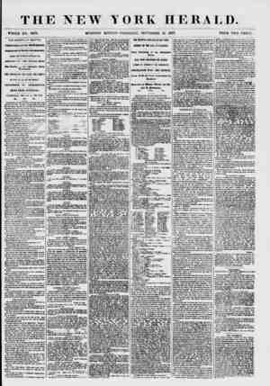 THE NEW YORK HERAT,D. WHOLE NO. 7679. MORNING EDITION-THURSDAY, SEPTEMBER 10, 1857. PRICE TWO CENTS. THE EUROPA AT HAUFAX.