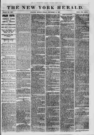 THE NEW YORK HERALD. WHOLE NO. 7687. MORNING EDITION-FRIDAY, SEPTEMBER 18, 1857. PRICE TWO CENTS. IfflUUK B TOTAL LOSS Or 1HI