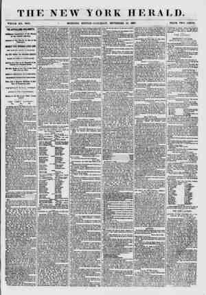THE NEW YORK HERALD. WTBOLB NO. TH88. i MORNING EDITION-SATURDAY, SEPTEMBHR 19. 1857. . PRICE TWO CENTS. THE APPALLING...