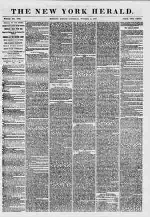 THE NEW YORK HERALD. WHOLE NO. 7702. MORNING EDITION-SATURDAY, OCTOBER 3, 1857. PRICE TWO CENTS. ARRIVAL OF THE ARABIA. THUS
