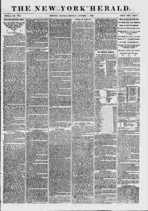 THE NEW.^YORK'HERALD. WHOLE NO. 7704. MORNING EDITION-MONDAY, OCTOBER 5 1857. PRICE TWO CENTS. KTERES1 ING FROM CENTRAL...