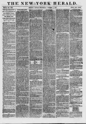 THE NEW^YORK HERALD. WHOLE NO. 770& MORNING EDITION-WEDNESDAY, OCTOBER 7, 1857. PRICE TWO CENTS. ADDITIONAL FROM EUROPE....