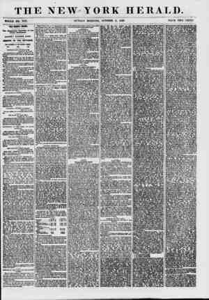 THE NEW-YORK HERALD. WHOLE NO. 7710. SUNDAY MORNING, OCTOBER 11, 1857. PRICE TWO CENTS. THE MONET CRISIS. The Financial...