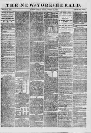 .THE NEWiSYOBKlHERALD. WHOLE NO. 7715. MORNING EDITION-FRIDAY, OCTOBER 16, 1857. PRICE TWO CENTS. ARRIVAL OF THE VANOEBBILT.