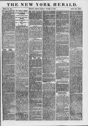 THE NEW YORK HERALD. WHOLE NO. ins. MORNING EDITION-MONDAY, OCTOBER 19, 1857.: PRICE TWO CENTS. B4&DI0 A8IA8SMATIM9 111 TBRTH