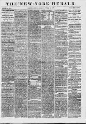 THE-NEWeYORK HERALD. tfHOLB NO. 7119. MORNING EDITION-TUESDAY, OCTOBER 20 1857. PRICE TWO CENTS. Hi; GiUlAT fiNAlCJAL...