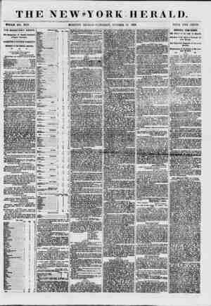 THE NEWsY OBK HER AL I). WHOLE NO. 7723, MORNING EDITION-SATURDAY, OCTOBER 24 1857. PRICE TWO CENTS. THE MONETARY CRISIS. Hmj