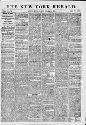 THE NEW YORK HERALD. WHOLE NO. 7732. MORNING EDITION-MONDAY, NOVEMBER 2, 1857. PRICE TWO CENTS. IMPORTANT FROM MEXICO....